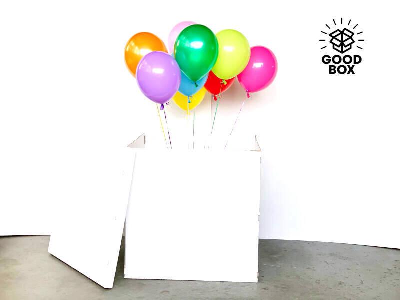 Большая подарочная коробка для шаров купить с доставкой по Казахстану