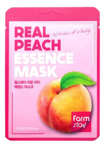 FarmStay Тканевая маска с экстрактом персика REAL PEACH ESSENCE MASK 1 шт.