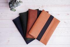 Винтажный горизонтальный кожаный чехол Gmakin для iPad