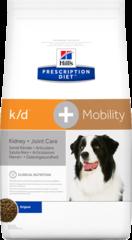 Ветеринарный корм для собак Hill`s Prescription Diet k/d + Mobility, поддержание подвижности/болезни почек