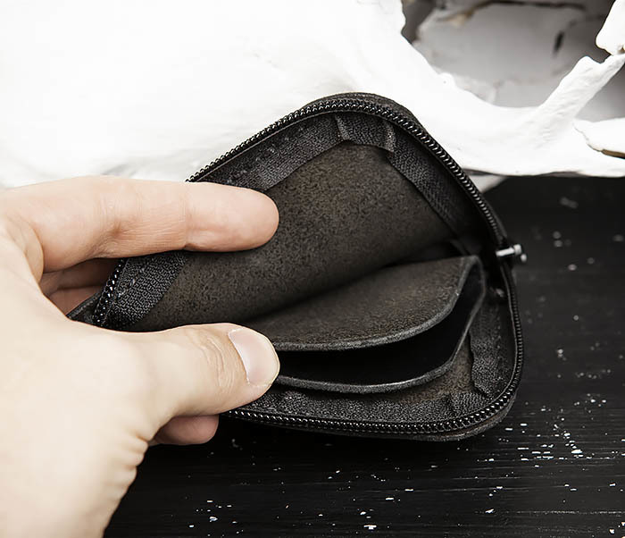 WB183-1 Удобный мини кошелек на молнии ручной работы фото 06