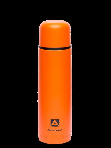 Термос Арктика (0,5 литра) с узким горлом, пластиковый корпус, оранжевый