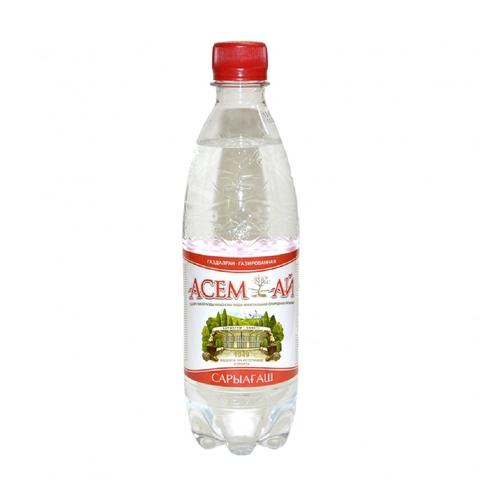 Вода минеральная АСЕМ-АЙ газ 0,5 л Сары-агаш КАЗАХСТАН