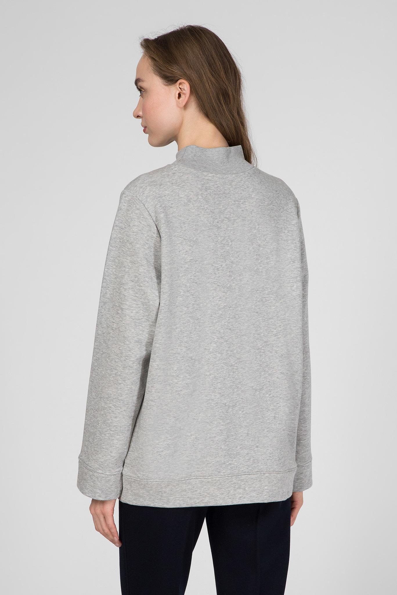 Женский серый свитшот PAM MOCK-NK Tommy Hilfiger