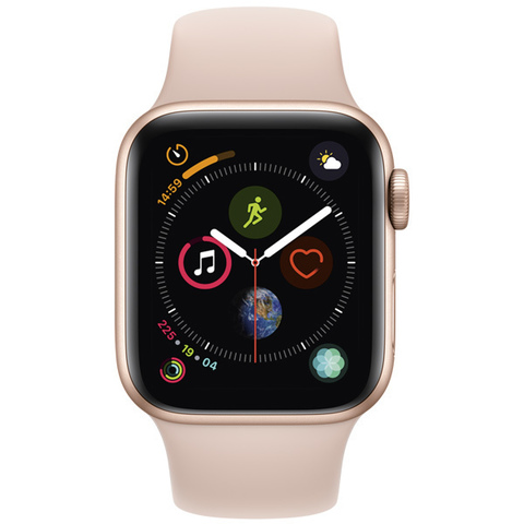 Watch S4 Cellular 40mm Gold Al/Pink Sand Sport Band