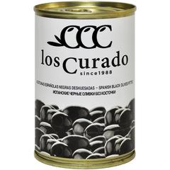 Los Curado  Оливки  черные без косточки,  300г