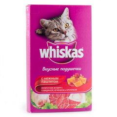 """Корм для кошек Whiskas подушечки с паштетом """"Ассорти с говядиной"""" 350г"""