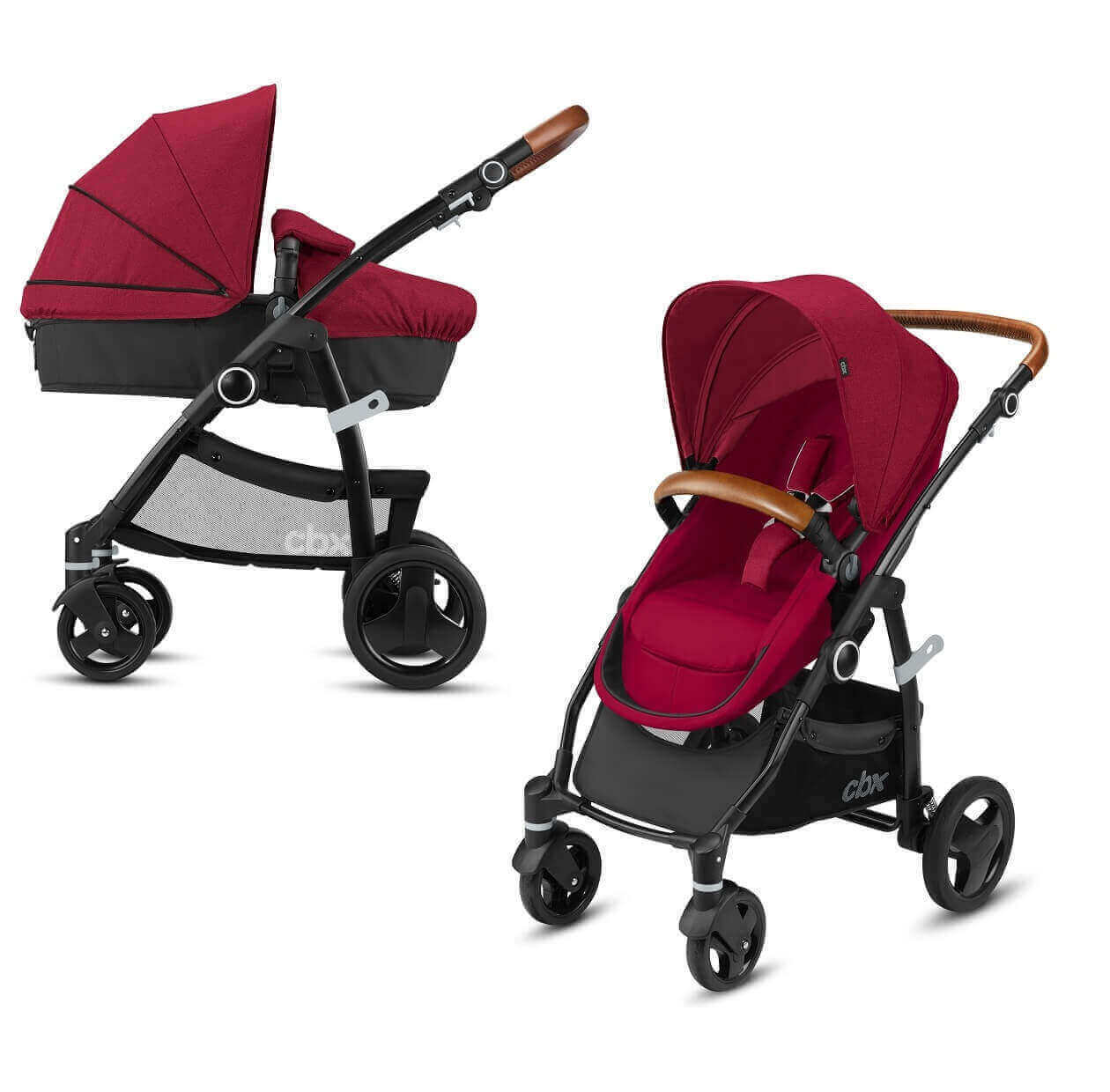 CBX by Cybex Leotie Flex трансформер Коляска-трансформер CBX by Cybex Leotie Flex Lux Crunchy Red CBX_18_000_LEOTIE_flex_lux_Red_Carrycot_0089_DERV_HQ_-_копия.jpg