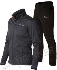 Утеплённый лыжный костюм Nordski Motion Base Graphite/Black мужской