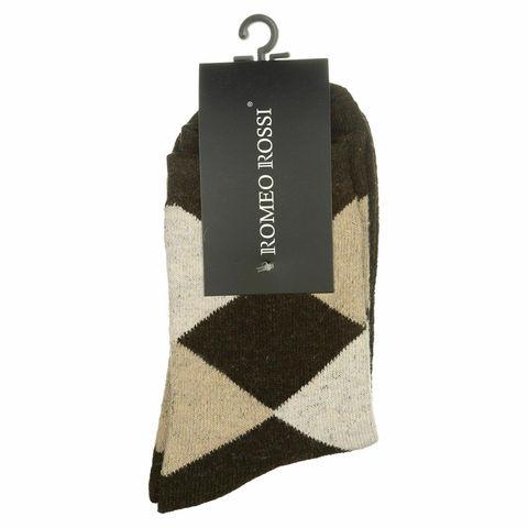 Мужские носки коричневые ROMEO ROSSI с шерстью 8046-15