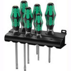 335/350/355/6 Набор отвёрток Wera Kraftform Plus Lasertip + подставка