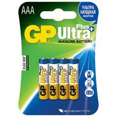 Батарейки GP 24AUP-U4 Ultra alkaline PLUS, LR03, AAA,блистер 4/40/