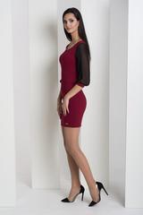 Мадлен. Оригинальное платье  с гипюровыми рукавами. Бордо
