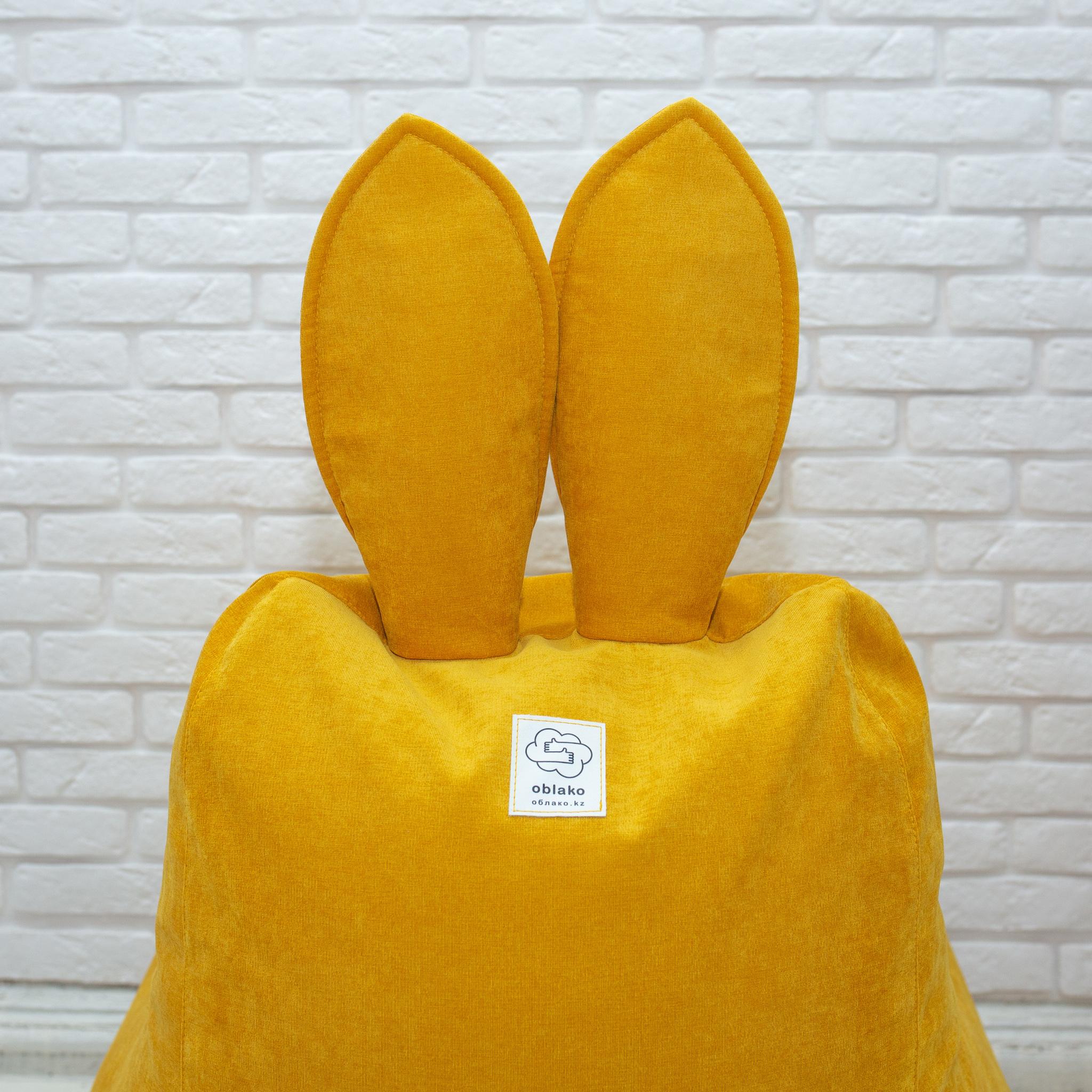 Кролик М микровельвет (горчичный)