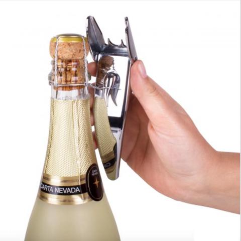 Открывалка для игристых вин Brut хром