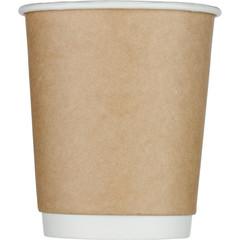 Стакан одноразовый Стандарт бумажный коричневый 250 мл 25 штук в упаковке