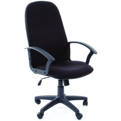 Кресло для руководителя Chairman 289 черное (ткань/пластик)