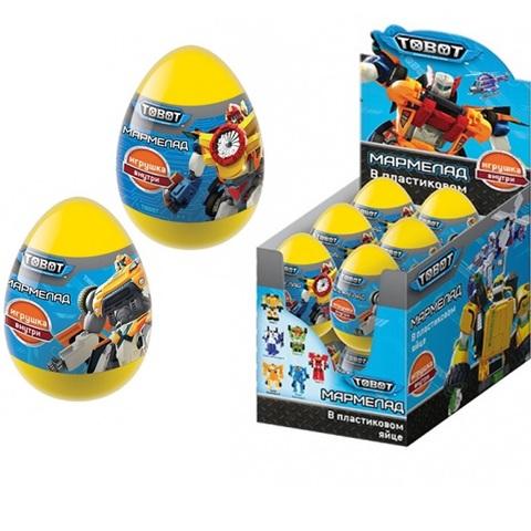 TOBOT Мармелад  в пластиковом яйце с игрушкой 1кор*6бл*12шт, 10г