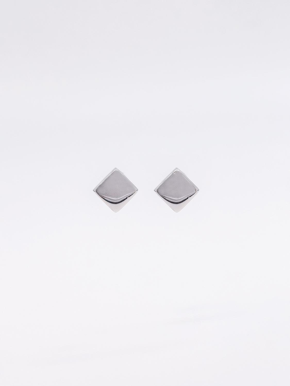 Серьги пусеты квадрантной формы из серебра  оптом и в розницу