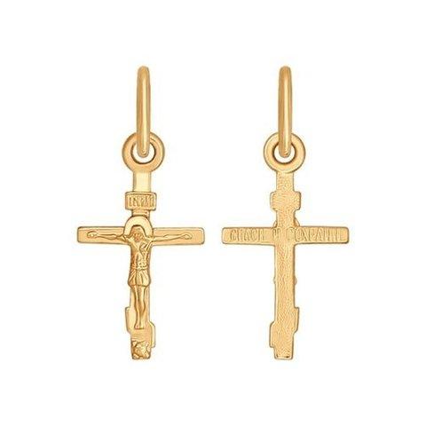 120192 - Минималистичный маленький крестик из золота