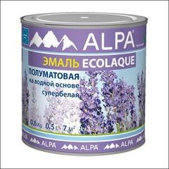 Эмаль для внутренних и наружных работ ALPA Экоэмаль п/матовая (Белый)
