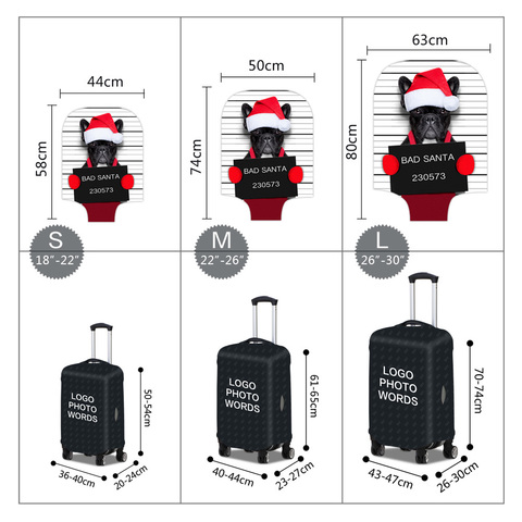 Чехол для чемодана - Плохой Санта