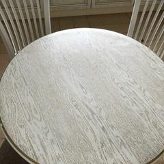 Скатерть круглая матовая 105 см на стол цвета слоновая кость