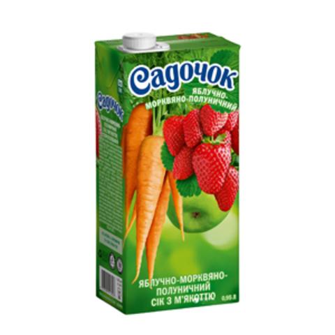 Нектар Яблоко-Морковь-Клубника