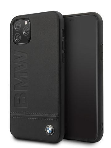 BMW / чехол для телефона iPhone 11 Pro | Signature Logo imprint Hard Leather Black
