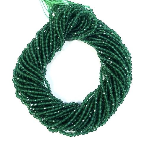 Бусины шпинель (имитация) граненая 2 мм цвет зелёный цена за 185 бусин (~37 см)