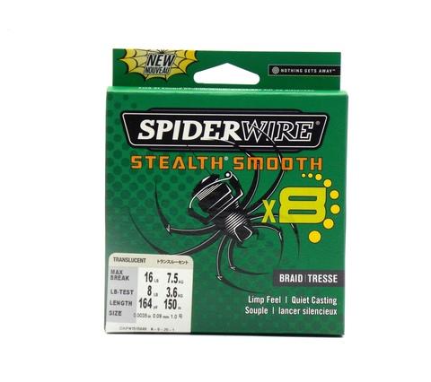 Плетеная леска Spiderwire Stealth Smooth 8 Полупрозрачная 150 м. 0,09 мм. 7,5 кг. (1515649)
