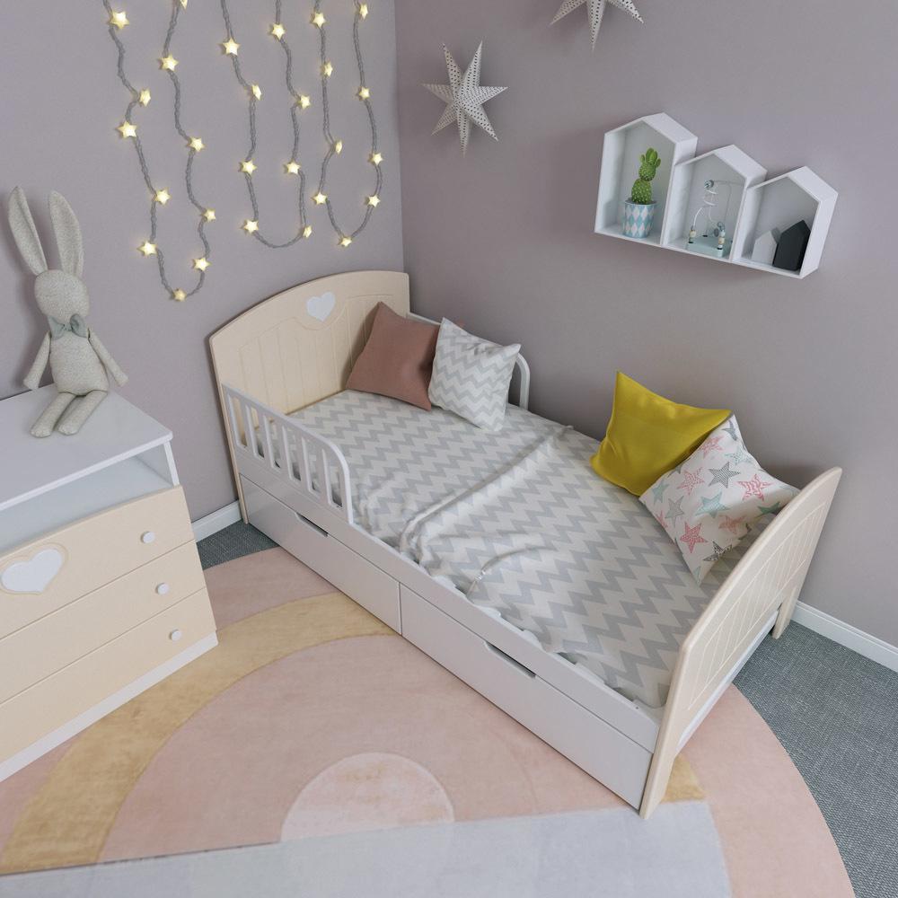 Кровать с ящиками Феалта-baby Мечта Персик