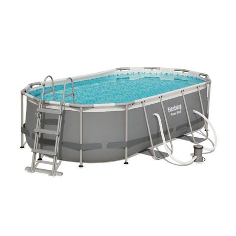Каркасный бассейн Bestway 56620 (427х250х100 см) с картриджным фильтром и лестницей / 18490