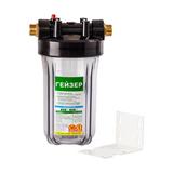 Гейзер корпус магистрального фильтра 10BB прозрачный (50685)