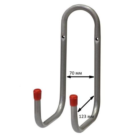 Двойной настенный крюк 123 мм HAS019