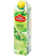 Сок Сады придонья Зеленое яблоко 1л