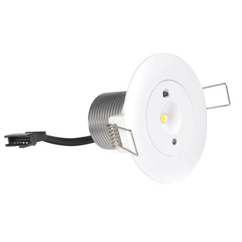 Аварийный светильник с пружинными креплениями для встраиваемого монтажа Starlet White LED Intelight
