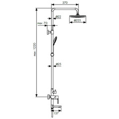 Душевая система KAISER Sena 74182 схема