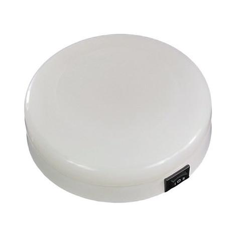 Светильник интерьерный накладной, Ø125 мм, пластмасса