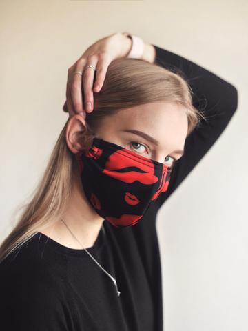 Многоразовая маска защитная принт
