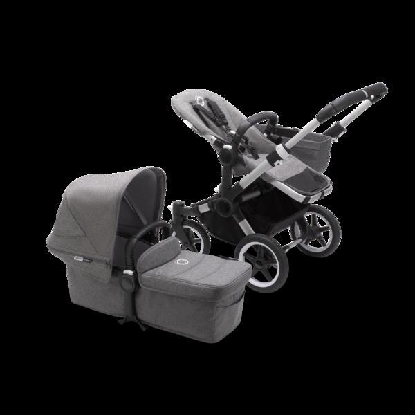 Коляска 2 в 1 Bugaboo Donkey3 Mono Complete Alu/Grey Melange