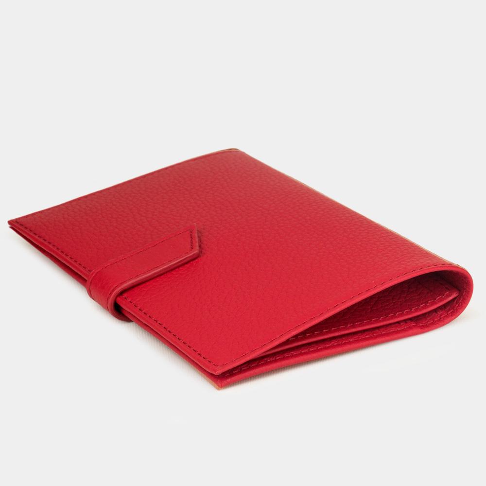 Обложка для паспорта и автодокументов Cannes Easy из натуральной кожи теленка, красного цвета