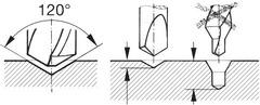 Центровочное сверло для станков с ЧПУ HSS-E 120° N TiAlN