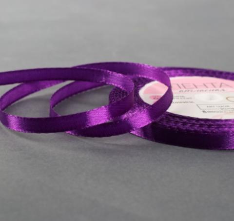 Лента атласная,цвет фиолетовый, 10мм*23±1м