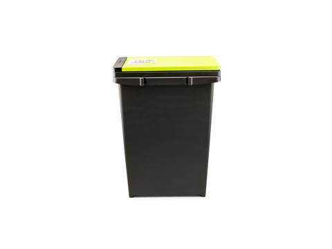 Мусорное ведро с полуавтоматической крышкой 20 л. для раздельного мусора