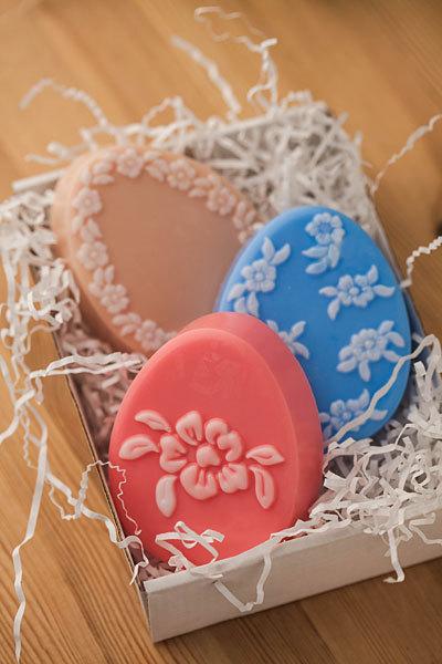 Мыло ручной работы. Форма Крупный цветок/Яйцо
