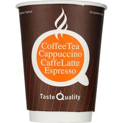 Стакан одноразовый Taste Quality бумажный коричневый 300 мл 25 штук в упаковке
