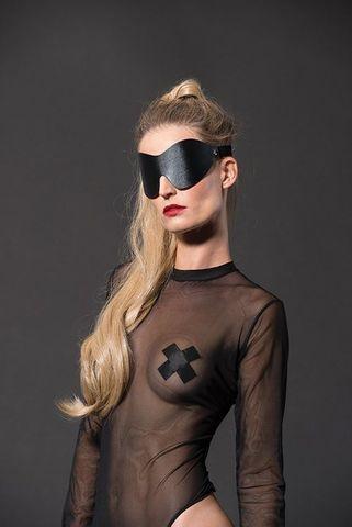 Черная сплошная маска на глаза PREMIUM EYE MASK