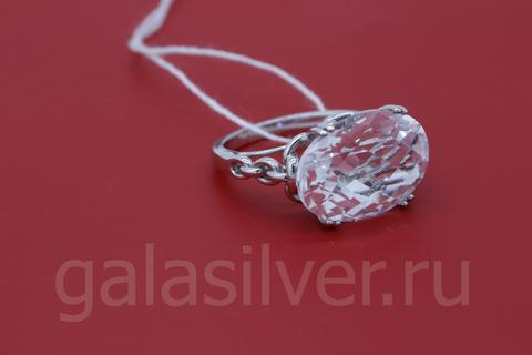Кольцо с хрусталем из серебра925