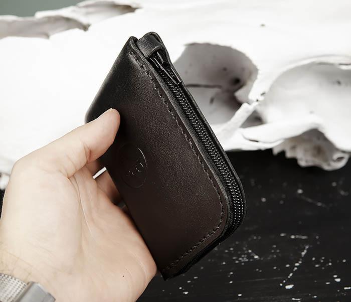 WB183-1 Удобный мини кошелек на молнии ручной работы фото 12